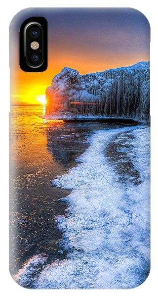 Sunrise Chicago Lake Michigan 1-30-14 03 Phone Case by Michael  Bennett
