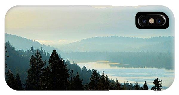 Sunrise Donner Lake California IPhone Case