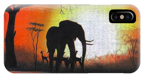 Sunrise In Africa IPhone Case