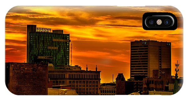 Sunrise In Detroit IPhone Case