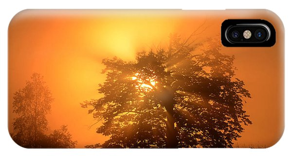 Sunrise In Fog IPhone Case