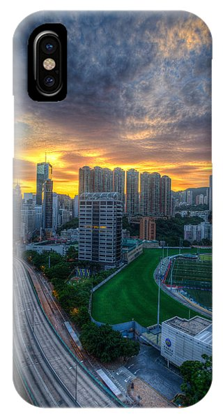 Sunrise In Hong Kong Phone Case by Mike Lee