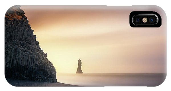 Rock Formation iPhone Case - Sunrise In Reynisfjara by Jorge Ruiz Dueso