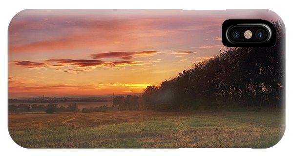 Sunrise In The Fields IPhone Case