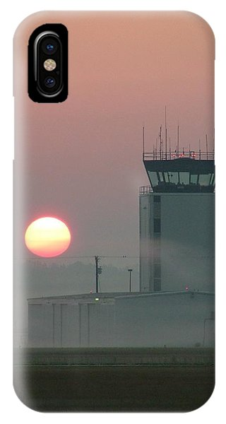 Sunrise In The Fog At East Texas Regional Airport IPhone Case