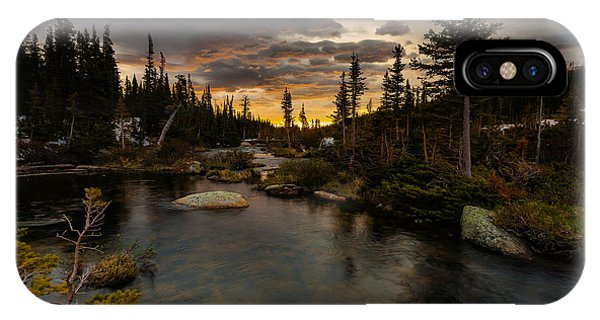 Indian Peaks Wilderness iPhone Case - Sunrise In The Indian Peaks by Steven Reed