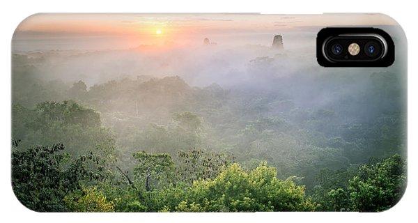 Sunrise In Tikal IPhone Case