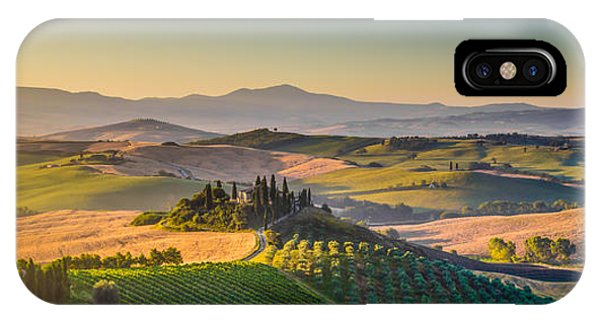 A Golden Morning In Tuscany IPhone Case