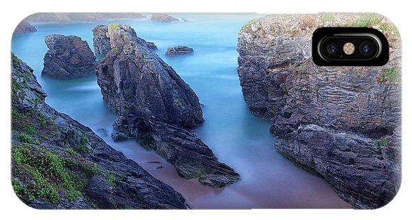 Human Interest iPhone Case - Sunrise In Wild Coast In Quiberon by David santiago Garcia