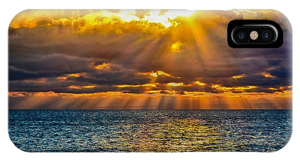 Sunrise Lake Michigan 9-29-13 IPhone Case