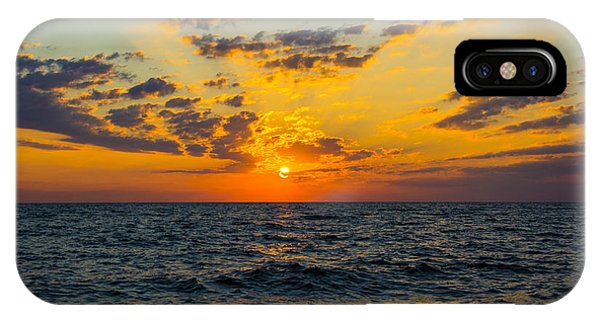 Sunrise Lake Michigan August 10th 2013 001 IPhone Case