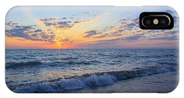 Sunrise Lake Michigan August 10th 2013 004 IPhone Case