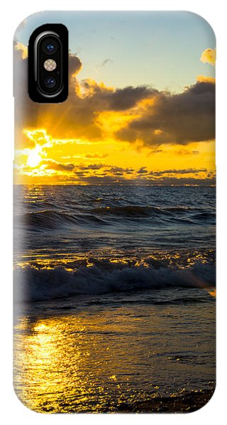 Sunrise Lake Michigan August 30th 2013 001  IPhone Case