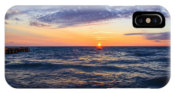 Sunrise Lake Michigan August 8th 2013 001 IPhone Case