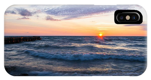 Sunrise Lake Michigan August 8th 2013 003 IPhone Case