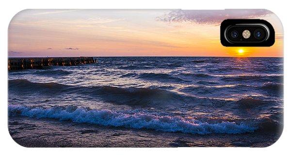 Sunrise Lake Michigan August 8th 2013 004 IPhone Case