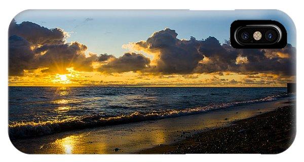 Sunrise Lake Michigan September 2nd 2013 004 IPhone Case