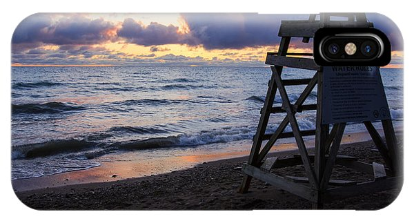 Sunrise Lake Michigan September 2nd 2013 005 IPhone Case