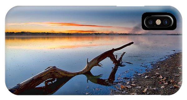 Sunrise Log Lake Phone Case by Berkehaus Photography