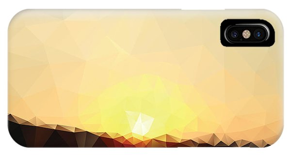 Dusk iPhone Case - Sunrise Low Poly Effect Abstract Vector by Vinko93