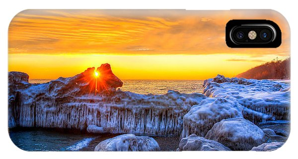 Sunrise North Of Chicago Lake Michigan 1-12-14 Phone Case by Michael  Bennett