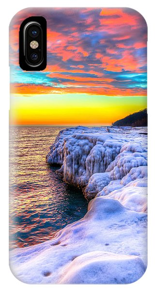Sunrise North Of Chicago Lake Michigan 1-14-14 Phone Case by Michael  Bennett