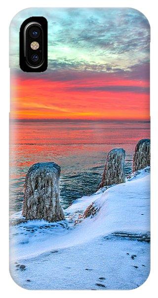 Sunrise North Of Chicago Lake Michigan 1-18-14 Phone Case by Michael  Bennett