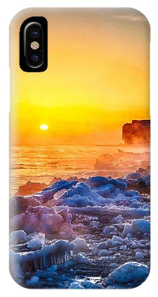 Sunrise North Of Chicago Lake Michigan 1-3-14  Phone Case by Michael  Bennett