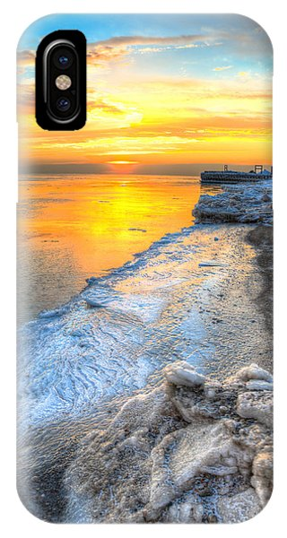 Sunrise North Of Chicago Lake Michigan 1-4-14 001 Phone Case by Michael  Bennett