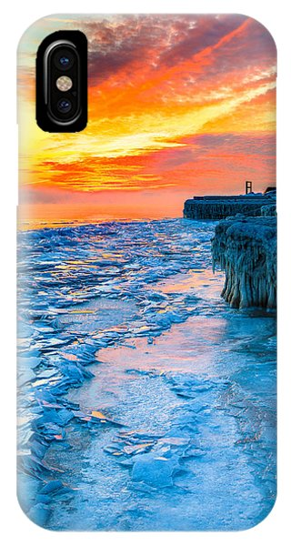 Sunrise North Of Chicago Lake Michigan 1-9-14 002  Phone Case by Michael  Bennett