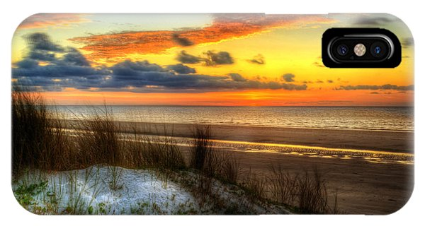 IPhone Case featuring the photograph Sunrise On A Jekyll Island Dune by Greg and Chrystal Mimbs