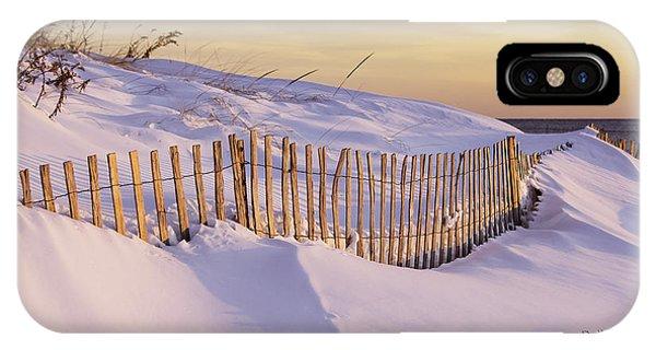 Sunrise On Beach Fence IPhone Case