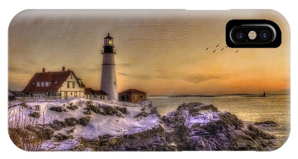 Sunrise On Cape Elizabeth - Portland Head Light - New England Lighthouses IPhone Case