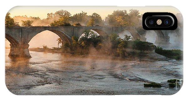 Sunrise On Interurban Bridge 0369 IPhone Case