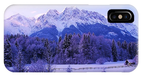 Sunrise On Snowy Mountain IPhone Case