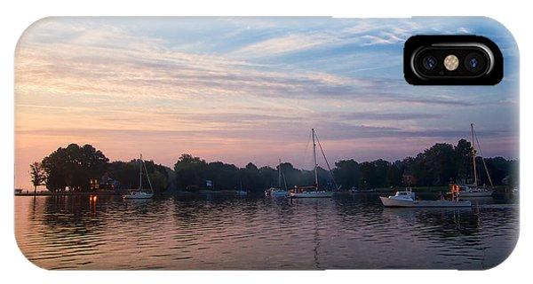 Sunrise On St. Michaels Md Harbor IPhone Case