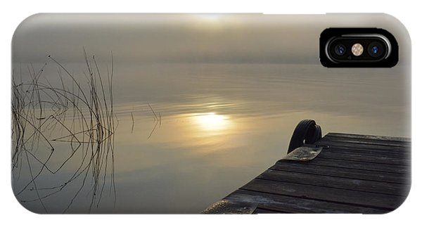 Sherri iPhone Case - Sunrise On The Dock by Sherri Abell
