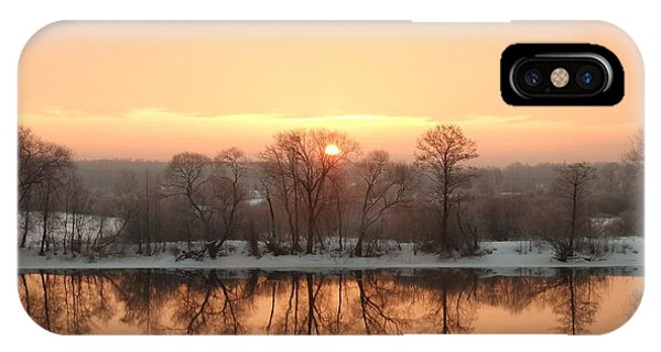 Sunrise On The Ema River IPhone Case