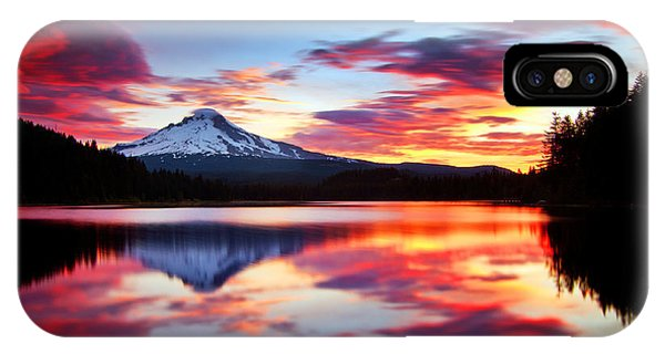 Ice iPhone Case - Sunrise On The Lake by Darren  White