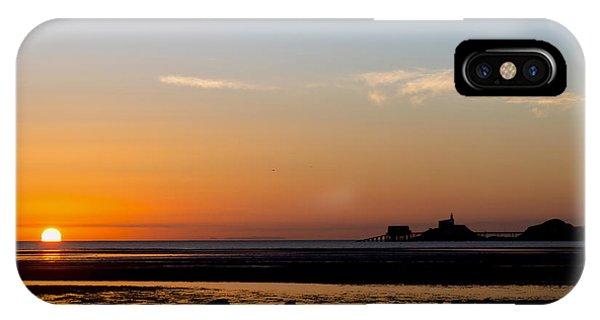 Sunrise On The Mumbles IPhone Case