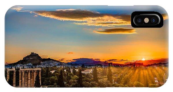 Sunrise On The Temple Of Olympian Zeus IPhone Case