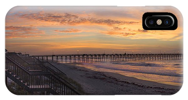 Sunrise On Topsail Island Panoramic IPhone Case