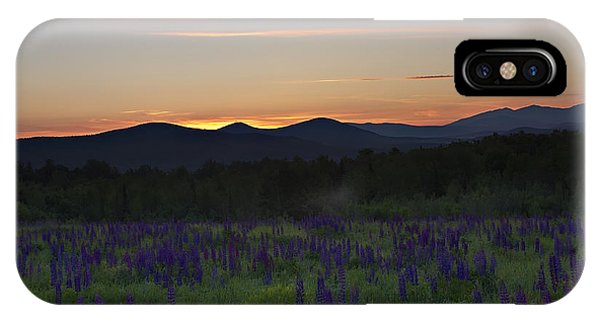Sunrise Over A Field Of Lupines IPhone Case