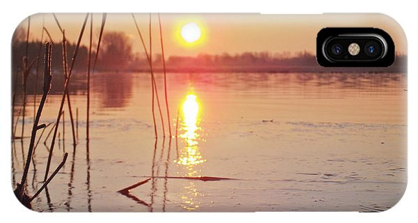 Sunrise Over Frozen Water IPhone Case