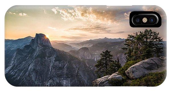 Sunrise Over Half Dome At Glacier Point IPhone Case