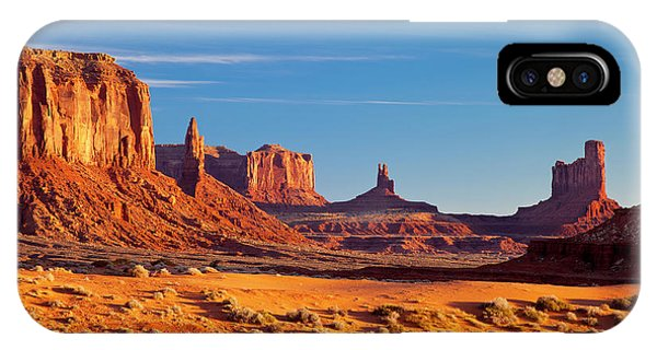 IPhone Case featuring the photograph Sunrise Over Monument Valley by Brian Jannsen