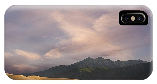 Middle Of Nowhere iPhone Case - Sunrise Over The Great Sand Dunes by Keith Kapple