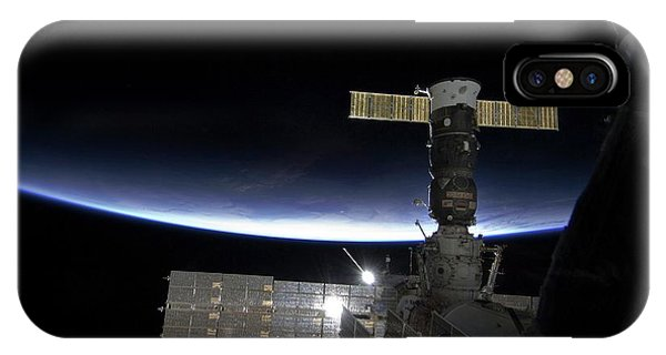 International Space Station iPhone Case - Sunrise Over The Iss by Nasa/science Photo Library