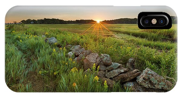 Tidal Marsh iPhone Case - Sunrise Over The Salt Marsh by Jerry and Marcy Monkman