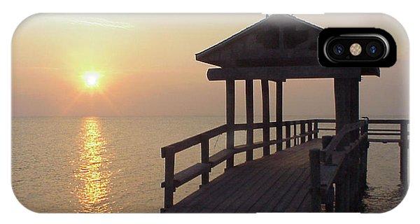 Sunrise Pier 1 IPhone Case